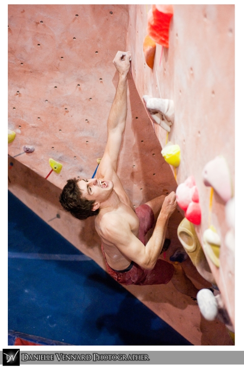 Thomas Plank Climbing at the Delaware Rock Gym MACCS Competition