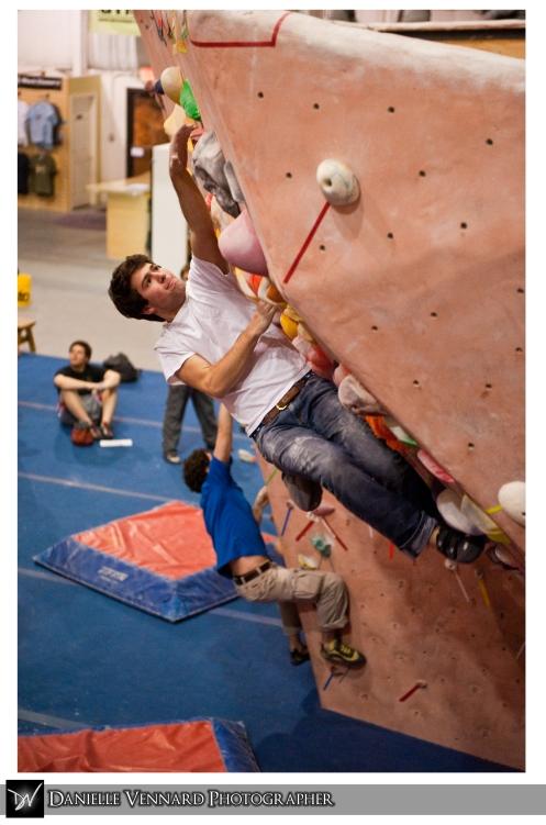 Adam Libert Climbing at the Delaware Rock Gym MACCS Competition Feb. 20, 2010