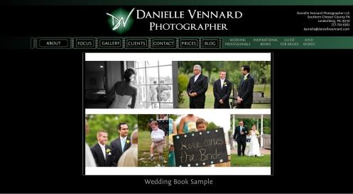 Danielle Vennard Photographer Wedding Book Sample webpage