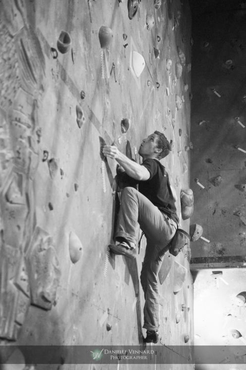 Tim Rose eye balling the last holds in mens final 2 during the Climbnasium Frostbite Climbing Comp 2012