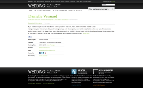 Official Page for Danielle Vennard on the Wedding Photojournalist Association