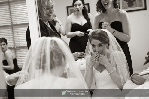 funny moment while putting on the veil