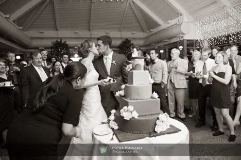 a moment after the cake cutting