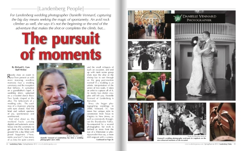 The Pursuit of Moments - Landenberg Today Spring/Summer 2012 Issue
