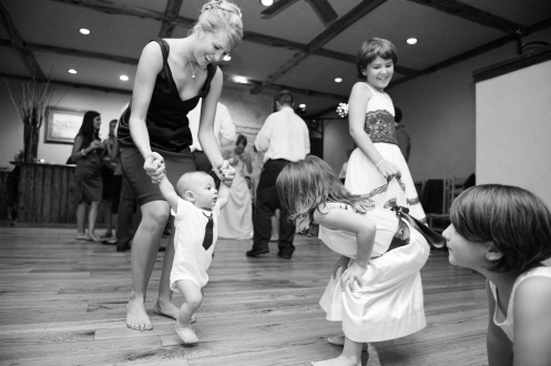 Image from a reception two years ago with my son and Mallory and other kids at the wedding