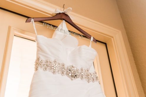 Dress with custom hanger