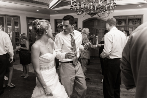 bride and groom reminicent of their dance 2 years ago