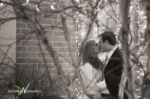 Engagement Photography - Danielle Vennard Photographer - engaged couple in Bethlehem, PA - a moment with the engaged couple outside of the Edge Restaurant in Downtown Bethlehem, PA