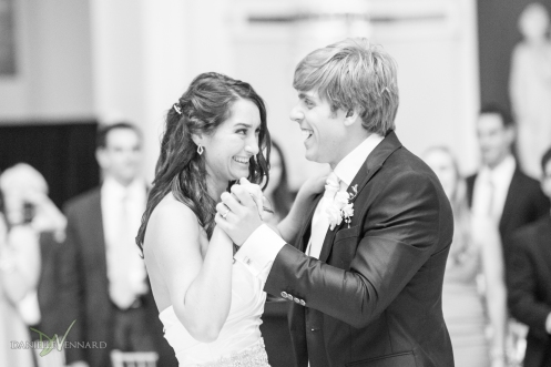 Bride and Groom enjoying their first dance together