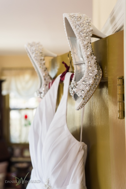 Detail of brides Bedazzled shoes - Wedding Photography by Danielle Vennard Photographer - In Pursuit of Moments Unrehearsed - daniellevennard.com
