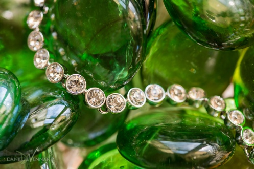 Detail of bride's diamond bracelet in green glass - Wedding Photography by Danielle Vennard Photographer - In Pursuit of Moments Unrehearsed - daniellevennard.com