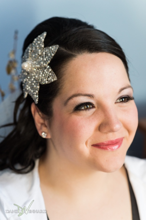 portrait of bride with star hair clip - Wedding Photography by Danielle Vennard Photographer - In Pursuit of Moments Unrehearsed - daniellevennard.com