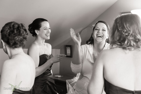 Bride and her bridesmaid enjoying a laugh - Wedding Photography by Danielle Vennard Photographer - In Pursuit of Moments Unrehearsed - daniellevennard.com