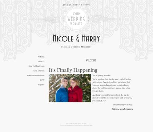 Nicole + Harry Wedding Website