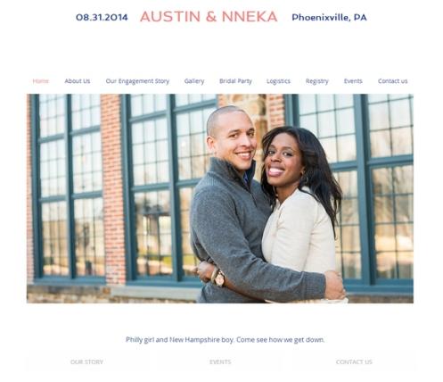 Nneka + Austin Wedding Website