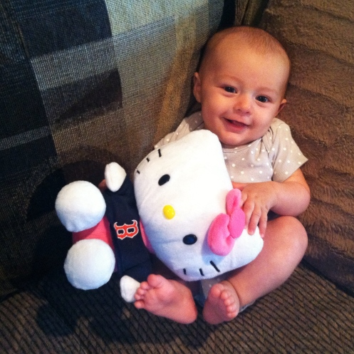 Baby Zoey with Hello Kitty Boston doll