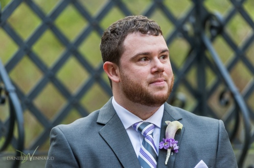 Groom emotional as he watches his bride come up the aisle at Winterthur - Photography by Danielle Vennard Photographer - In Pursuit of Moments Unrehearsed - daniellevennard.com