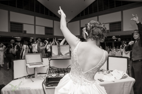 Bride becomes the DJ - Photography by Danielle Vennard Photographer - In Pursuit of Moments Unrehearsed - daniellevennard.com