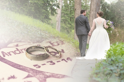 Bride, groom, wedding bands fade composite - Danielle Vennard Photographer
