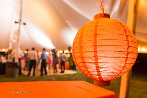 West Chester, Pennsylvania Wedding Photography - Summer - Outside Wedding - Orange Ball Lantern decorating tent wedding - Danielle Vennard Photographer - In Pursuit of Moments Unrehearsed - daniellevennard.com